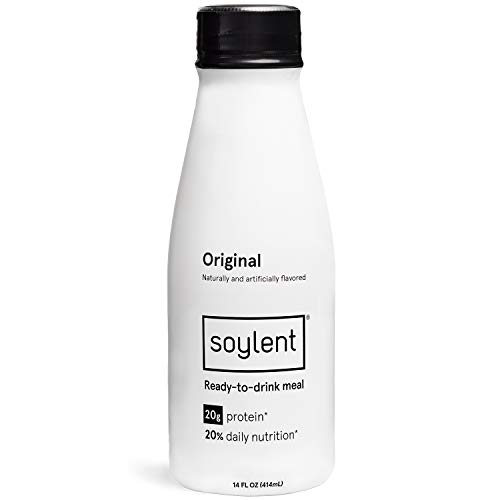 Original Soylent Meal Replacement Shake Original 12 Pack Complete Meal In A Bottle 20g Plant Protein 14 Oz Bottles