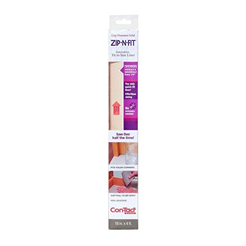 Con-Tact Brand Zip-N-Fit Solid Grip Non-Adhesive Non-Slip Shelf and Drawer Liner, 18-Inches by...