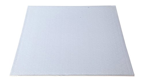 """W PACKAGING WPWDW50W 1/2 Sheet (18.37x13) White Double Wall Wrap Around/Fold Over Cake Pad, 1/4"""" Thick, W/Hand Wrapped Coated Embossed Foil Paper (Pack of 50)"""