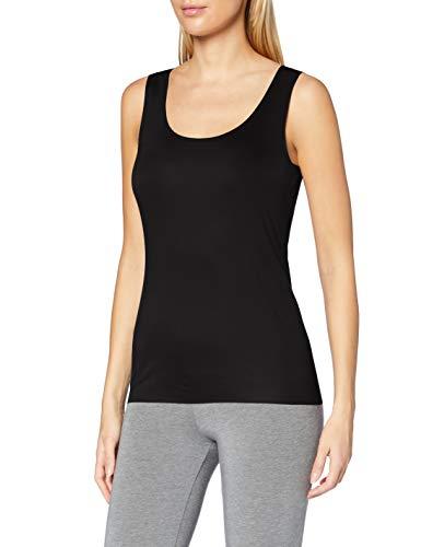 CALIDA Damen Natural Luxe Unterhemd, Schwarz (Schwarz 992), 46 (Herstellergröße: L)