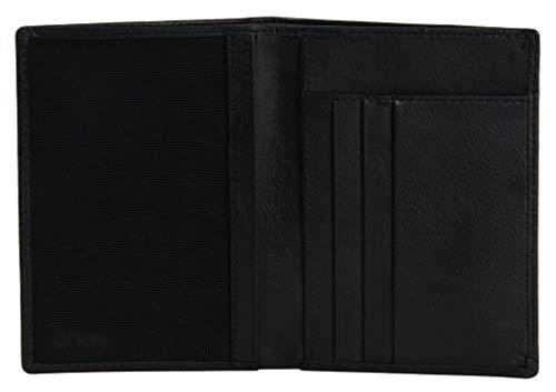 EONO by Amazon - Tarjetero de Piel auténtica para Hombre y Mujer con tecnología RFID y Compartimento con Cremallera, Negro