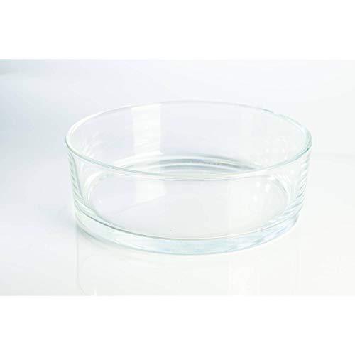 INNA-Glas Coupelle décorative Ronde en Verre Vera, Transparent, 8cm, Ø 25cm - Coupe à Fruits - Centre de Table en Verre