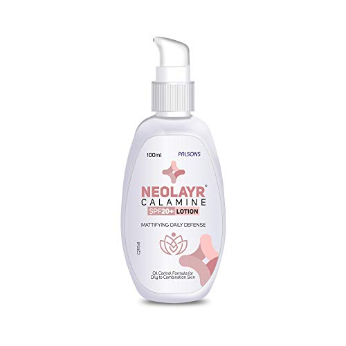 Calamine Lotion with vitamin E I For oily to combination skin I Absorbs excess oils I Acne & pimple repair I Summer skincare,100 ml