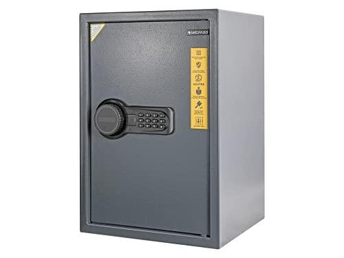 Shepard REX 50 - Caja fuerte con cerradura electrónica, 50 x 35 x 31 cm, color gris