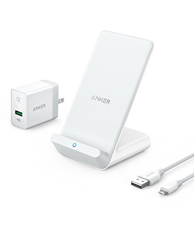 Anker Wireless Charger, PowerWave 7.5 Stand with Internal Cooling Fan, 7.5W for iPhone 11, 11 Pro,...