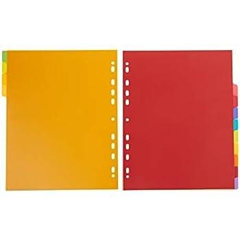 5 part Multi-coloured Campus PP Dividers A4 Maxi