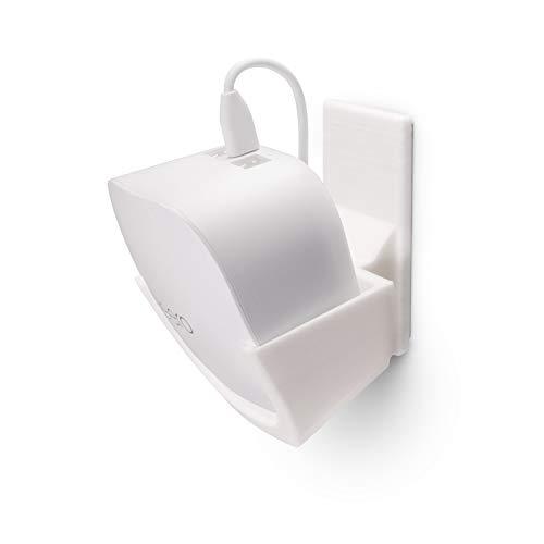 Brainwavz - Supporto da parete senza viti per supporto WiFi Eero, inclinato per la massima ricezione, design personalizzato, forte adesivo VHB, senza attrezzi, nessun disordine, bianco