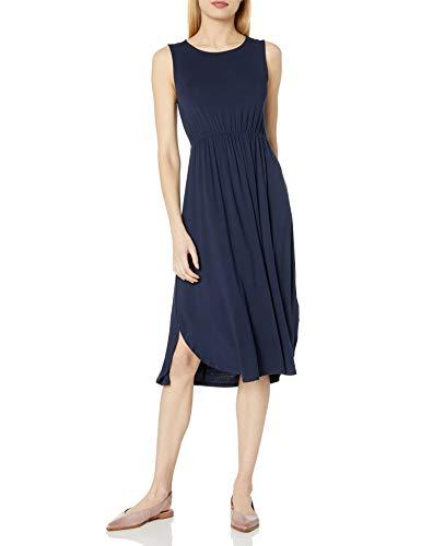 Daily Ritual Women's Jersey Standard-Fit Sleeveless Gathered Dress,...