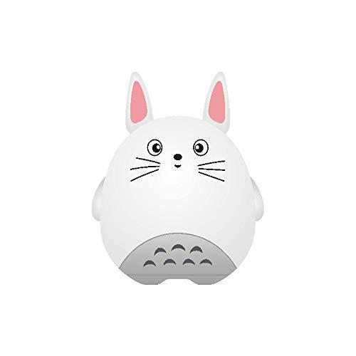 qiyanColorful Bluetooth-Lautsprecher Nette Silikon-Nachtlichter Totoro Pats Light USB Creative Mit Bluetooth-Lautsprecher Sounds Chinchilla Pink - Cute