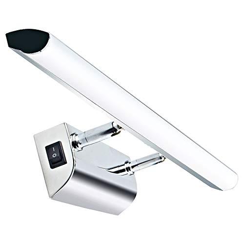Luxvista 9W 57CM Ángulo Ajustable Aplique Espejo Baño Led Interior con Interruptor con 900Lm Lámpara de Pared Espejo Iluminación para Maquillaje (Blanco Frío 6500K)