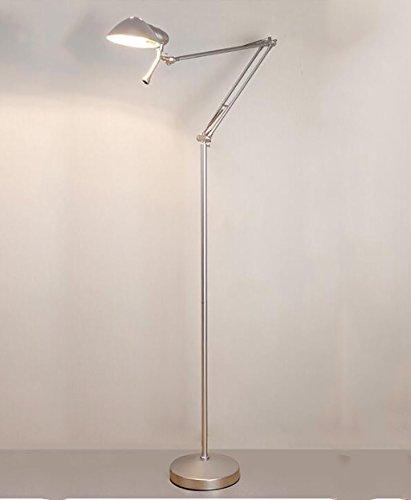Nachtlampje modern studeerkamp kantoor leren werk lange arm telescopisch plooien rocker lamp oogbescherming leeshoogte lamp verticale staande lamp