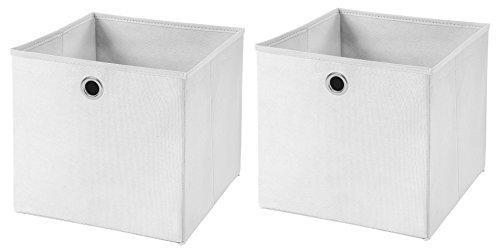 StickandShine 2er Set Weiß Faltbox 32 x 32 x 32 cm Aufbewahrungsbox faltbar