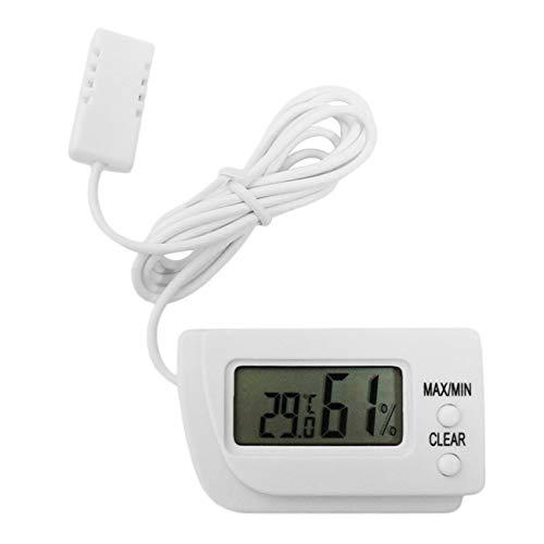 Ashley GAO Mini LCD Digital Incubadora de Huevos Termómetro Higrómetro Medidor Remoto Medición de Humedad y Temperatura Flip Out Stand