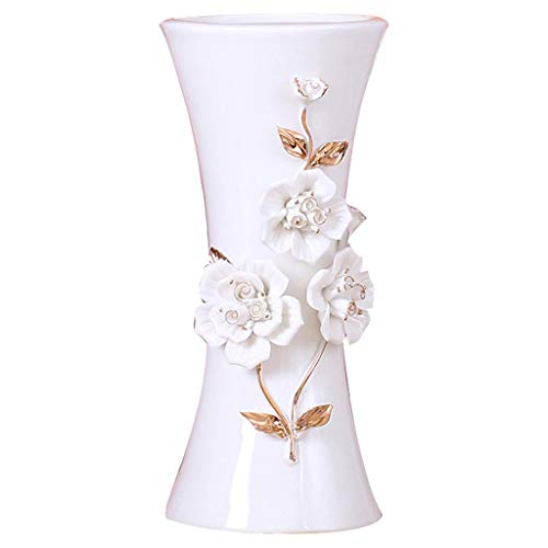 Rouge MagiDeal Pot /à Fleur R/étro M/étallique Vase Mariage Maison D/écoration