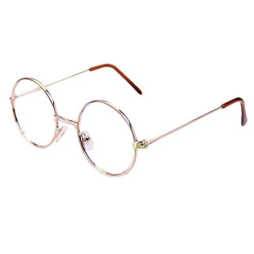 juqilu juqilu Rund Retro Gläser für Kinder - Jungen und Mädchen Keine Objektive Gläser Metall Brillenfassung Klassisches Brille mit Auto Form Brillenetui