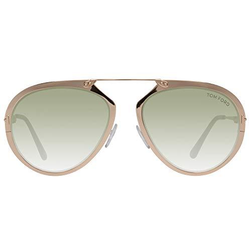 Tom Ford FT0508 5528N Tom Ford zonnebril FT0508 28N 55 Aviator zonnebril 55, goud
