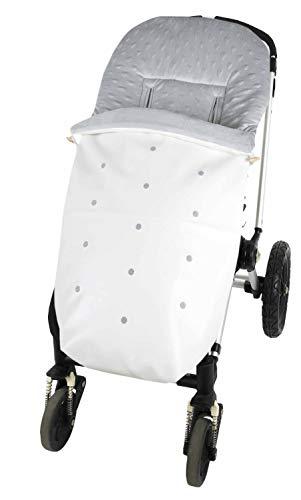 Saco de carro bebé universal, Saco pasa silla paseo invierno polar impermeable (Blanco)