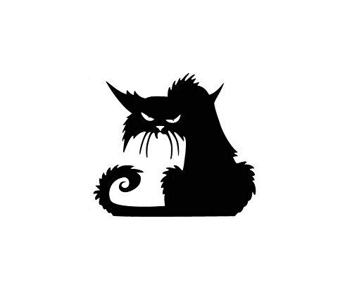 Haodou Glas Wandaufkleber Halloween Schwarze Katze Wandsticker PVC Aufkleber Abnehmbare Wasserdicht Wandtattoo Küche Wohnzimmer Dekor (42×37cm)