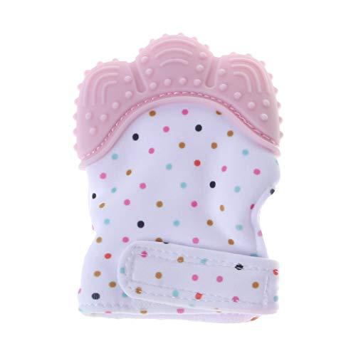 Hothap Knisternder Handschuh für Babys | Zahnungshilfe aus umweltfreundlichem Silikon | Ersatz für Beißring (Waschbär)
