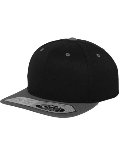 Flexfit 110 Fitted Snapback, Farbe Black/Grey