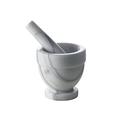 Excelsa Pesto Mortaio con Pestello, Marmo, Diametro 10 cm, Grigio