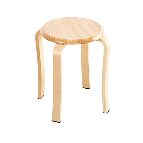 Turcas piernas a prueba de polvo del soporte del aspecto decorativo moderno Silla de madera húmeda Areakitchen madera maquillaje del asiento de la joven brillante de los colores Taburete de descanso,
