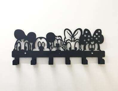 Cartoon Free Nail Iron Hanger Creative Children Room Decoration Clothes Metal Hangerr Wall Hanging Porch Door Coat Rack Hook (M)