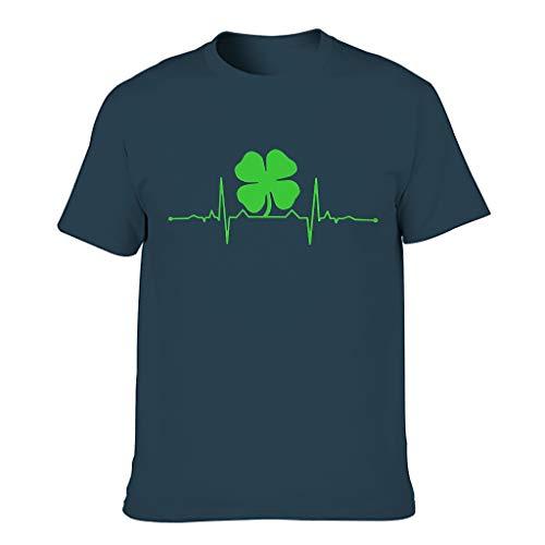 Camiseta para hombre con diseño gráfico y trébol verde azul marino XXXL