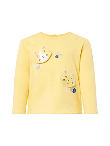 TOM TAILOR Mädchen Strick & Sweatshirts Sweatshirt mit Print Yarrow|Yellow,68,K4072,3000