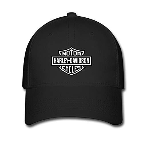 Feruch LJSWG Unisex Adjustable Harley Davidson Logo Baseball Caps Hat One Size Black,Cappelli e Cappellini