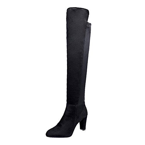 Stiefel Damen,Damen Faux Slim High Boots Overknee Stiefel High Heels Schuhe,Binggong Damen Stiefeletten