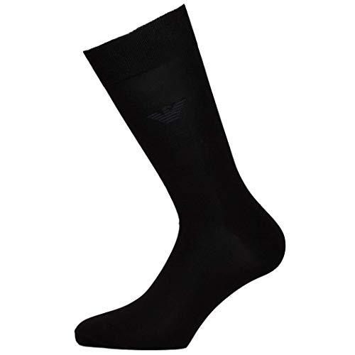 Emporio Armani Herren Socken Schwarz Anthrazit Dunkelblau (L, 00020 Schwarz)
