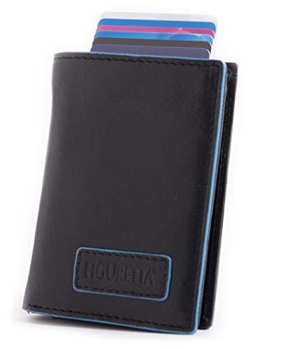 Figuretta leren RFID uitschuifbare creditcardhouder - Portemonnee - Anti skim pasjeshouder