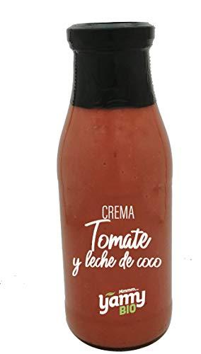 Yamy BIO Crema de Tomate y Leche de Coco - Pack de 12 Botellas x 490gr - Producto Ecológico elaborado en Navarra