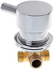 SimpleLife Mengkraan voor koud water warm water voor badkamer, G1/2 inch thermostaatmixer 2-in-1 en een kraan voor badkamer
