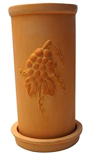 khevga Weinkühler aus Terracotta mit Untersetzer