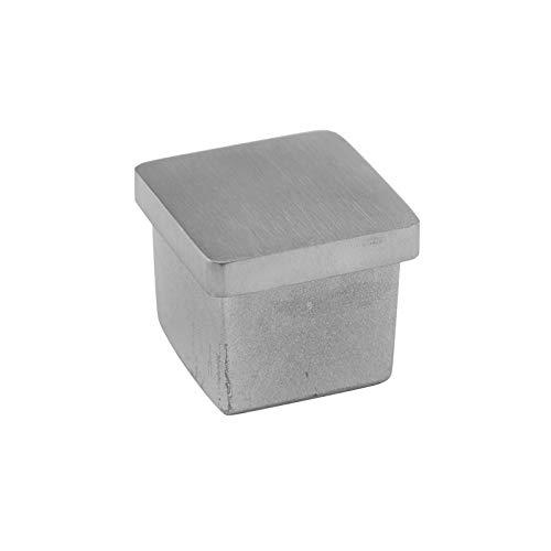Cosch Edelstahl hohle Endkappe für Vierkantrohre V2A Edelstahl (Rohranschluss 50 x 50 x 2,0 mm)