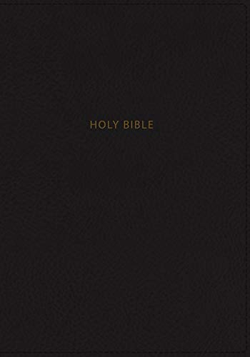 NKJV, Thinline Reference Bible, Large Print, Leathersoft, Black, Red Letter, Comfort Print: Holy Bible, New King James Version