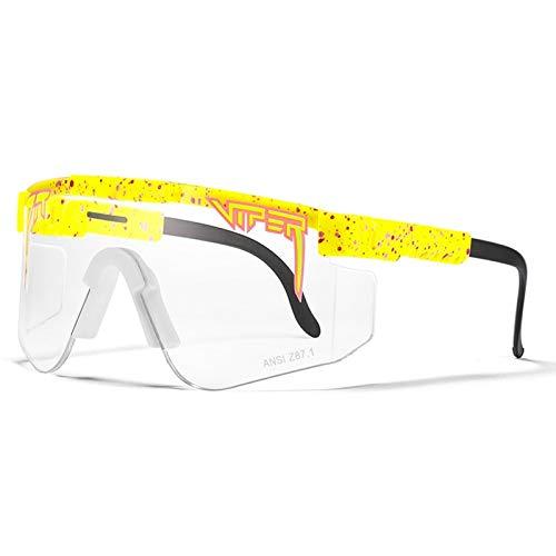 HUALUWANG Crótalo Gafas de Sol, Gafas de Ciclismo Outdoor, Gafas de Ciclismo UV400 Gafas Deportivas Polarizadas (para Hombre y Mujer)