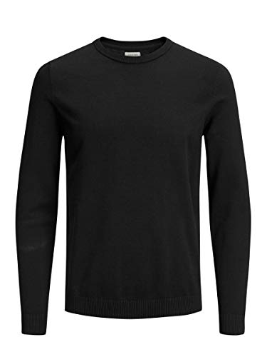 Jack & Jones Jjebasic Knit Crew Neck Noos suéter, Negro (Navy Blazer), Large para Hombre