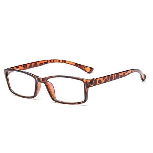 LGQ Nuevas Gafas de Lectura de luz Azul anticorrosión, Lente de Resina HD, Templo de Elasticidad de PC, Gafas de Moda para Ancianos Dioptrías +1,00 a +3,00,Leopard Color,+2.50