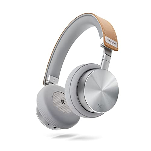 VONMÄHLEN Wireless Concert One - Auriculares Inalámbricos Bluetooth de Diadema - Cascos de Diseño sobre la Oreja con Estuche de Viaje, Cable Micro USB, Auxiliar y Organizador de Cables - Plata