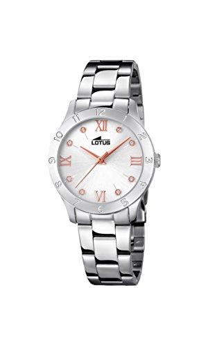 Lotus Watches Reloj Análogo clásico para Mujer de Cuarzo con Correa en Acero Inoxidable 18138/3