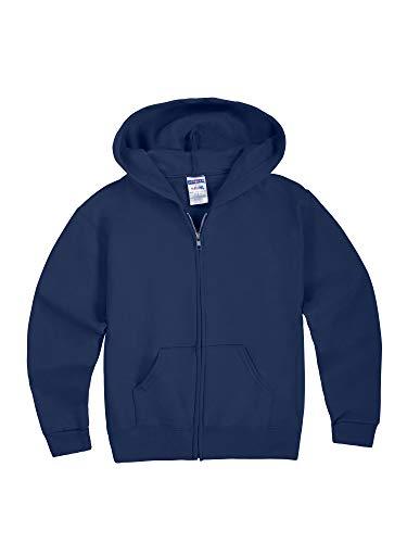 Jerzees boys Fleece Sweatshirts, Hoodies & Sweatpants Hooded Sweatshirt, Full Zip - Navy, Medium US