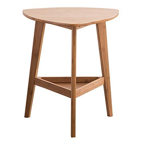 Tables basses Côté Canapé Nan Bambou Petite Table Table D'appoint Mobile Table De Téléphone Occasionnel Cadeau (Color : Brown, Size : 49 * 50 * 57cm)