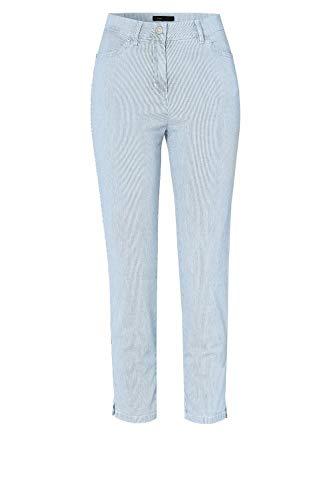 TONI Damen 7/8-Jeans »be Loved« aus gestreiftem Denim 46 Mittelblau