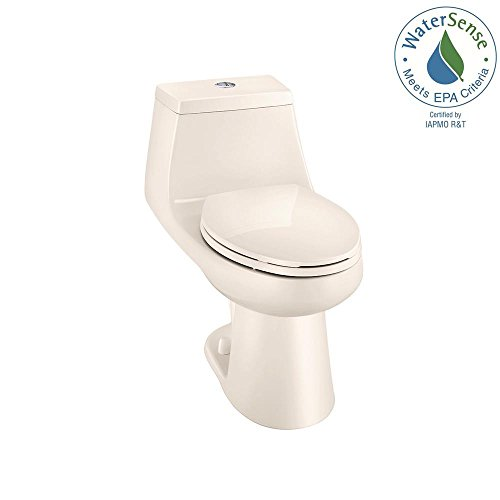 Glacier Bay 1-piece 1.1 GPF/1.6 GPF High Efficiency Dual Flush Elongated All-in-One Toilet in Bone