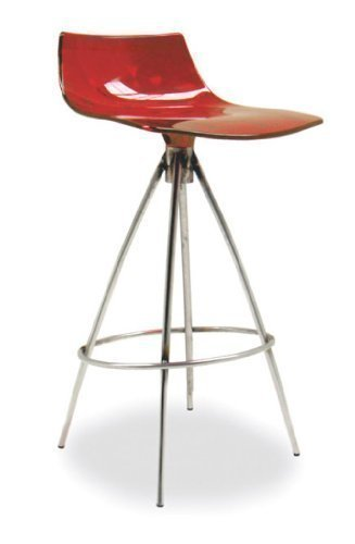Calligaris Taburete de Bar Ice CS/1049 - Rojo Transparente