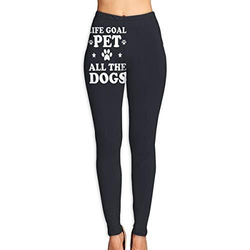 Irener Leggings de Entrenamiento Deportivo con pantalón de Yoga Pet All The Dogs Logo High Waist Tummy Control Womens Yoga Workout Pantsn