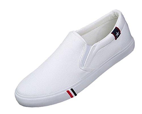 [マナンティアール] メンズ スニーカー シューズ 靴 くつ 靴シューズ レースアップ カジュアル ストレッチ ウォーキング アウトドア アクティブ ストリートシューズ 人気 おしゃれ 柄 紐 amazon デッキシューズ スリッポン 軽量 ホワイト 白